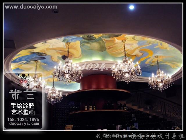 东城商店彩绘 东城酒店酒楼手绘墙 东城餐厅餐馆墙画 酒吧墙绘画 东城
