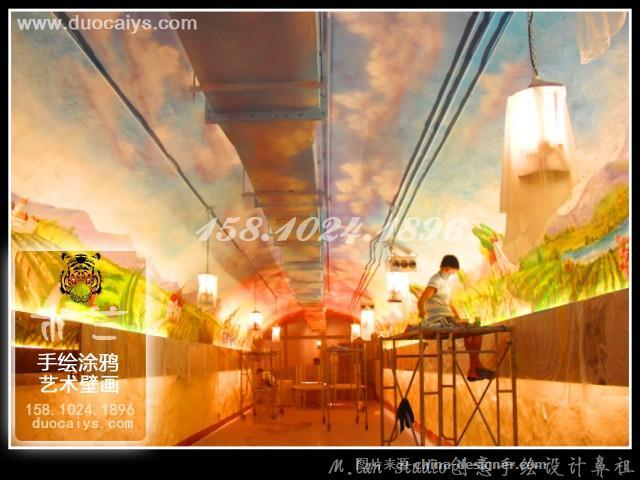 宣武商店彩绘 宣武酒店手绘墙 宣武餐厅餐馆饭店墙画 宣武酒吧墙绘 宣