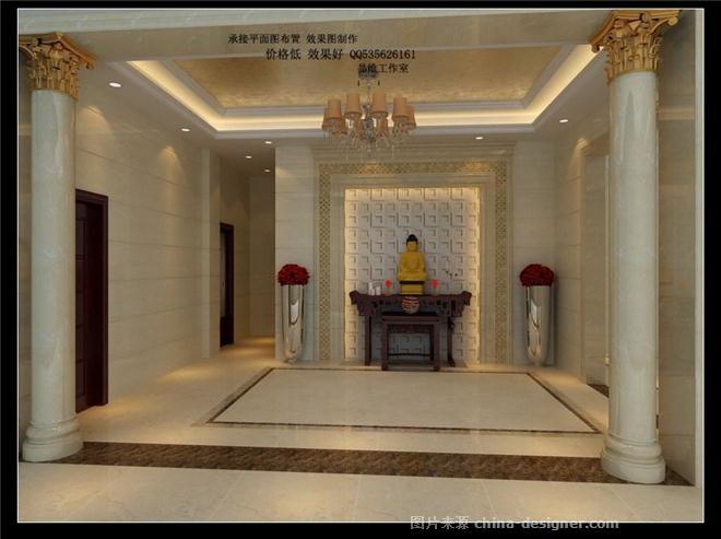 豪华别墅 欧式装修 全方位效果图-林联合的设计师家园-古典欧式,玄关