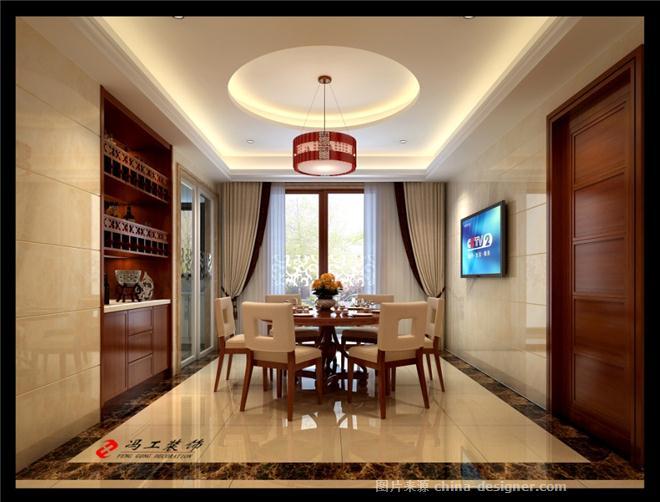 新中式餐厅厨房过道装修效果图