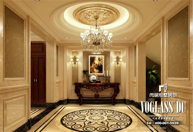 风格别墅装修效果图-杭州尚层别墅装饰的设计师家园-卧室,餐厅,玄关