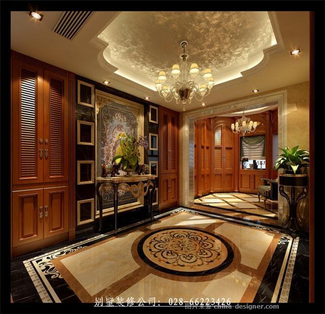 保利莱茵庄园别墅欧式风格装修设计图片-成都别墅装修|成都别墅装修公