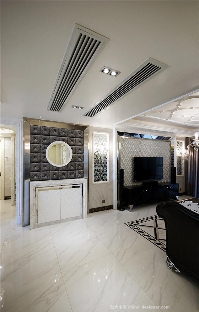 简洁奢华-谢圣忠的设计师家园-现代欧式,客厅,三居