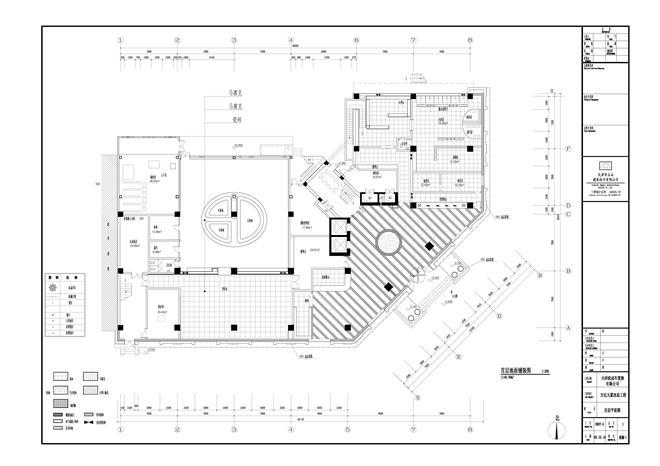 首层平面 x-地面铺装图