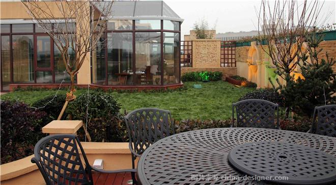 金华私人屋顶花园-何承铭的设计师家园-空中别墅