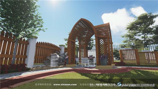 欧式别墅庭院景观-青岛斯纳森园林有限公司的设计师