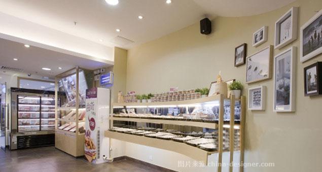 青岛蛋糕店装修 青岛烘焙店装修 糕点展柜-广智新装饰的设计师家园-食