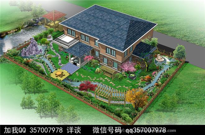 带院子别墅设计案例-室内设计师93的设计师家园-联排别墅,庄园,空中