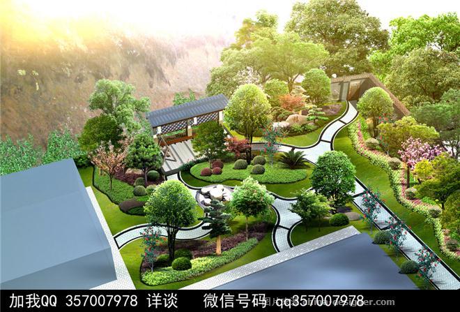 庭院景观设计案例-室内设计师93的设计师家园-叠拼别墅,庄园,空中别墅图片