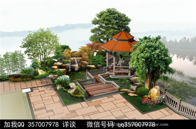 庭院景观设计案例-室内设计师93的设计师家园-叠拼别墅,庄园,空中别墅