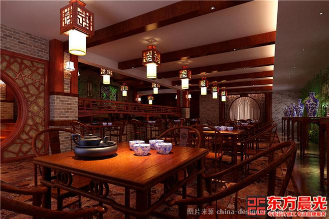 中式风格茶馆设计古典温馨-北京东方晨光装饰有限公司的设计师家园