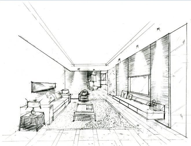 广州李友友室内设计有限公司手稿-李友友的设计师家园-现代简约,客厅