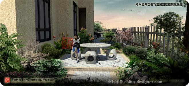 郑州经开区别墅庭院设计案例-梵意园林设计-郑州园林景观设计-梵意图片