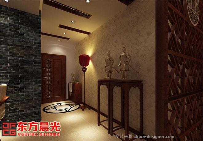 简约中式风格农村别墅装修室内设计-北京东方晨光装饰有限公司的设计