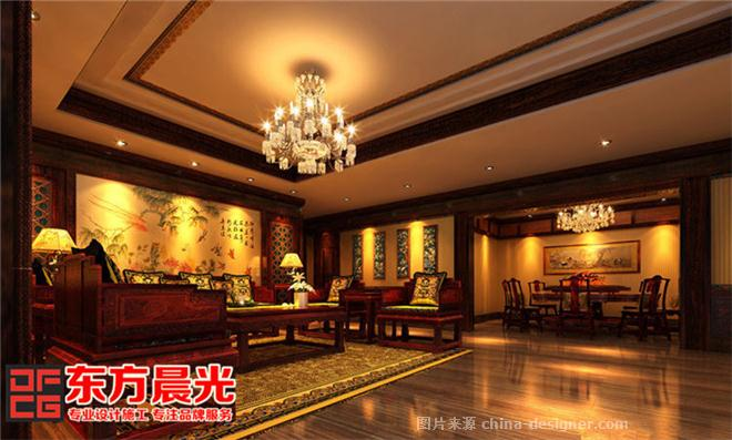 中式会所装修效果图-北京东方晨光装饰有限公司的设计师家园-娱乐会所
