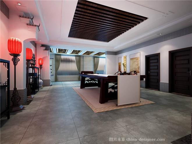 关于简单的书画展厅-王江杨的设计师家园-中式图片
