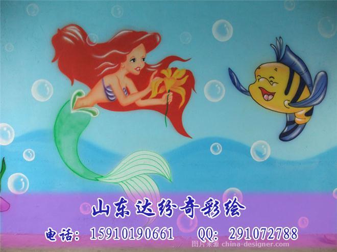 幼儿园卡通动物画彩绘喷绘