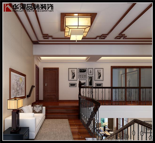 中山市保利春天里复式楼-黄笑迎的设计师家园-新中式,休闲区,过道