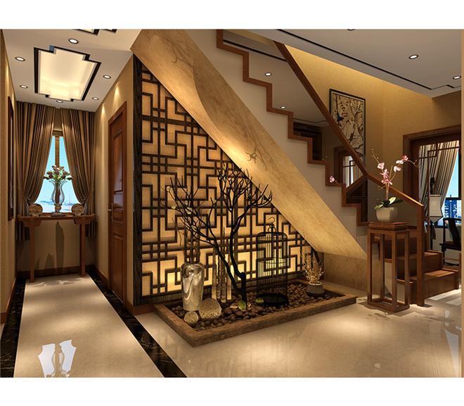 楼梯下景观