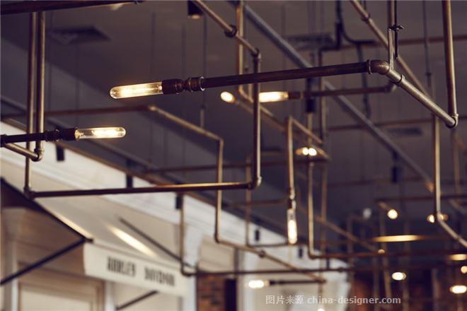 一茶一坐工业风-哈雷主题店-侯胤杰的设计师家园-茶餐厅