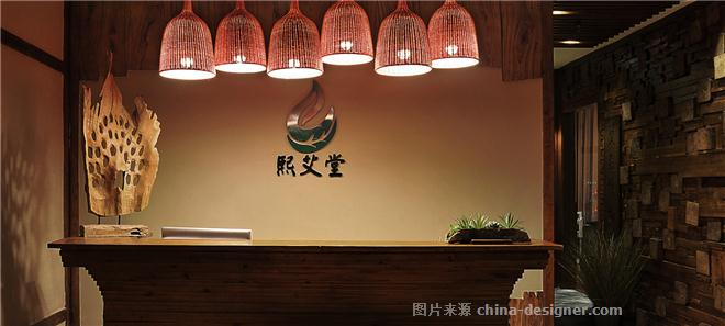 熙艾堂艾灸馆-彭江的设计师家园-瑜伽/养生会所,新中式,彩色,蓝色