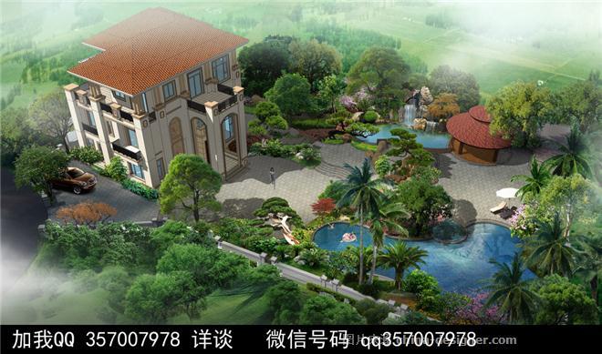 带院子别墅设计案例-室内设计师93的设计师家园-联排别墅,庄园,空中图片