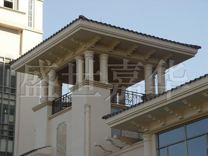 设计中屋檐处图片