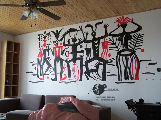 郑州墙绘郑州手绘墙画郑州青云墙面彩绘