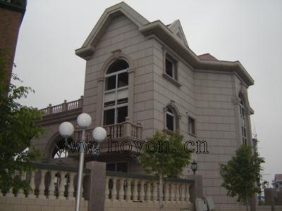 古欧式三层尖顶别墅外观效果图
