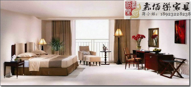 酒店标准双人间客房家具