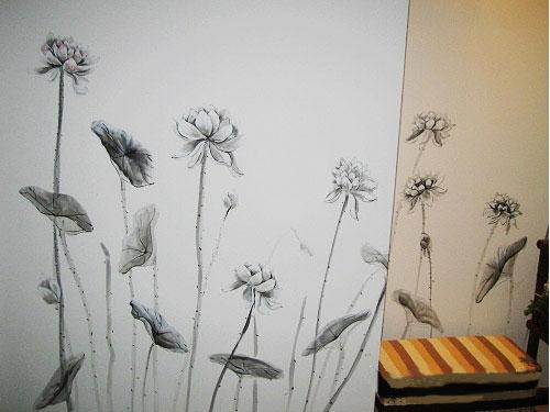 特殊材质壁纸 产品名称:上海墙绘