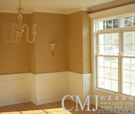 白色墙裙 欧式护墙板 实木门套垭口窗套定做