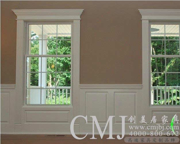 实木护墙板 白色欧式墙裙