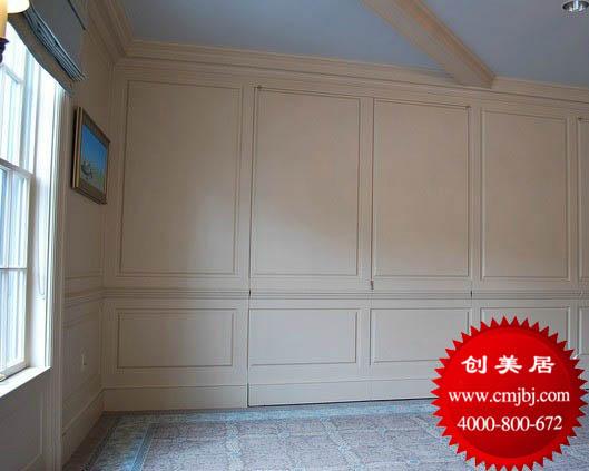 欧式护墙板 白色墙裙 实木踢脚板